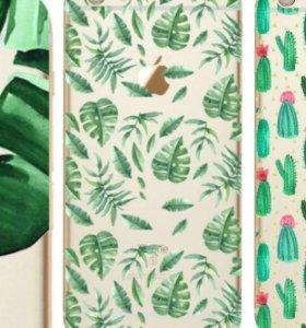 Тропический чехол с пальмовыми листьями