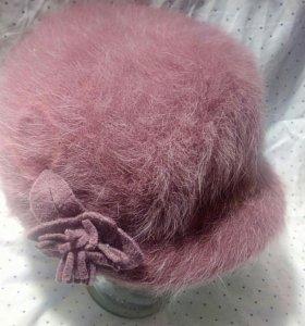Шляпа с козырьком, новая,розовая