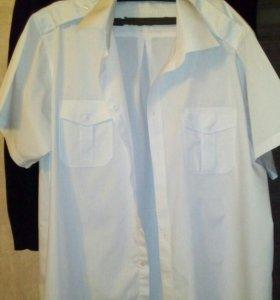 Рубашки белые с эполетами