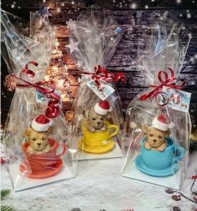 Новогодний подарок - мыло щенок 2018