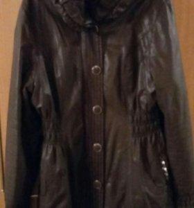 Куртка кожзам утепленная