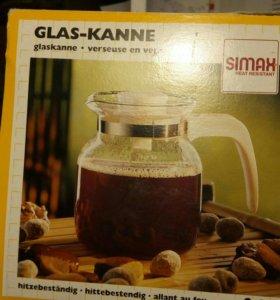 """Заварочный чайник из жаропрочного стекла """"SIMAX""""."""