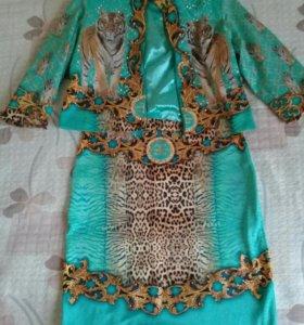 Нарядное платье с пиджаком 2 ка