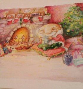 """Картина """"Перед Рождеством"""""""