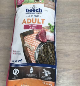 Bosch Adult Mit Lamm Reis Ягненок с рисом 15кг