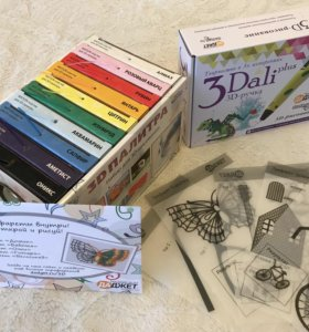 Набор 3D-Ручка 3DALI Plus+ Палитра красок 100 метр