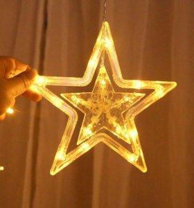 Новогодняя гирлянда.Звезды.