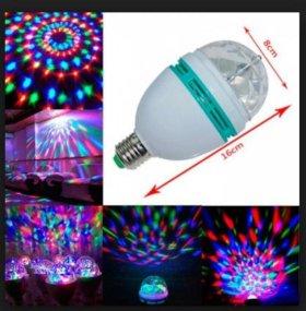 Гирлянда Лампа диско светодиодная