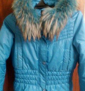 Куртка зимняя с капюшоном мех натуральный