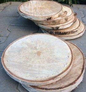 Спил дерева (береза, ольха, сосна и др.)