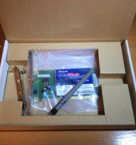 Беспроводной PCI адаптер D-Link DWL-G520