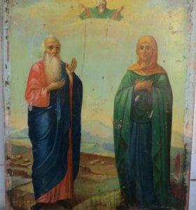 Икона Симеон и Анна