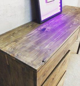 Макияжный консольный стол Loft 130x45х75h