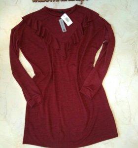 Новое теплое платье 50-52