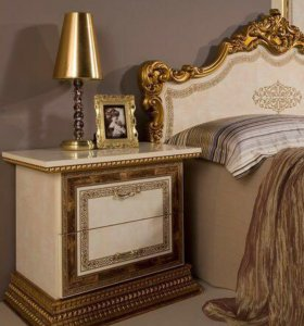 Спальный гарнитур Дженифер люкс бежевый с золотом