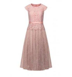 Удлиненное платье, цвет розовый