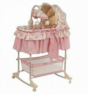 Кроватка Колыбель-люлька Pituso Florecita 4в1