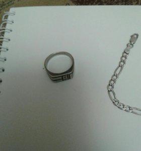 кольцо мужское серебрян.925