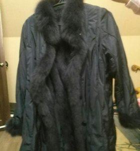 Плащ пальто с шапкой
