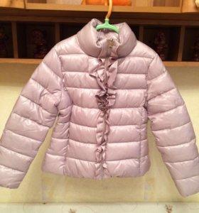 Куртка для девочки тёплая + штаны на флисе