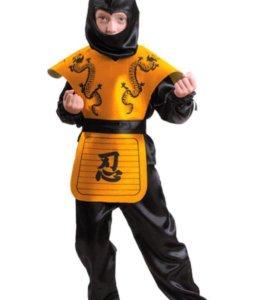 Новый карнавальный костюм Ниндзя 116 см