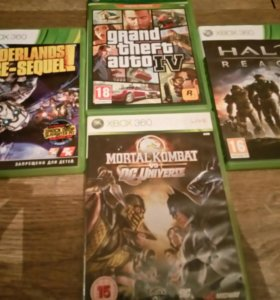 Xbox 360 и 6 игр в комплекте