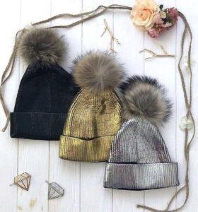 Тёплые стильные шапки
