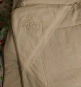 Велюровый конверт-одеяло на выписку