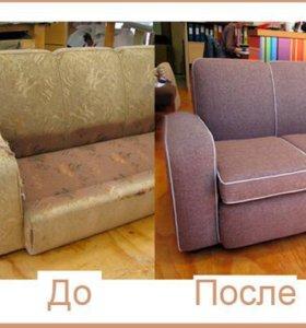 Перетяжка дивана - частный мастер