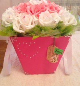 Сладкие корзины с цветами!😋