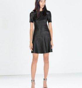 Кожаное платье Zara размер XS/S