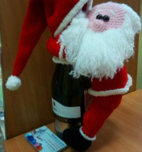 "Чехол на бутылку""Санта Клаус"""