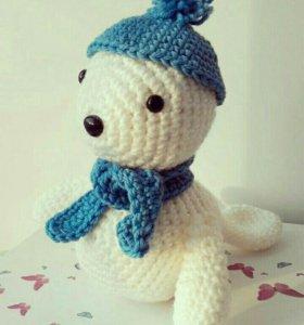 Тюлень (игрушка вязаная)