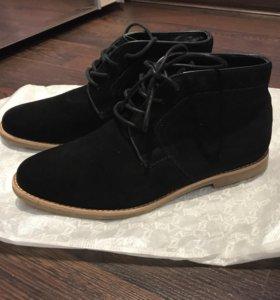 Замшевые ботинки, 36 размер