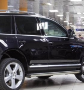 Пороги, подножки на VolkswagenTouareg