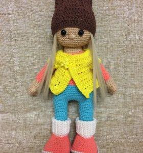 Вязаная Кукла амигуруми игрушка