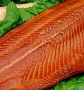 Копчёная красная рыба