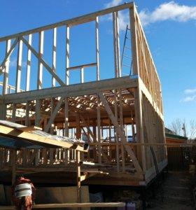 Строим дома из клеёного профилированного бруса