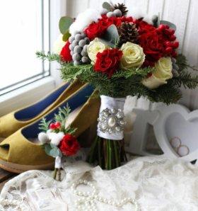 Букет невесты,для зимний свадьбы