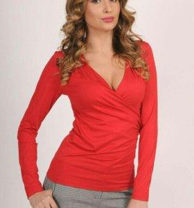 Блуза новая Vemina-city р.44-46 цвет БОРДОВЫЙ.