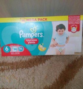 Подгузники трусики Pampers размер 6