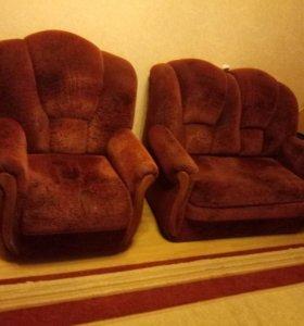 Мини-диван и одно кресло