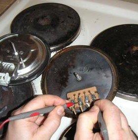 Замена конфорок на электроплитах