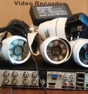 AHD комплект видео на 8 уличных камер