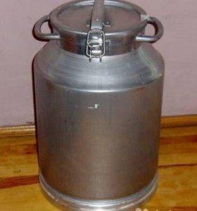 Фляги (бидоны) алюминиевые по 40 литров.