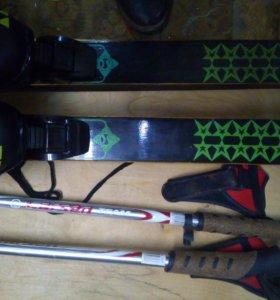 Комплект лыжи 190:палки125:батинки лыжные 40 разме