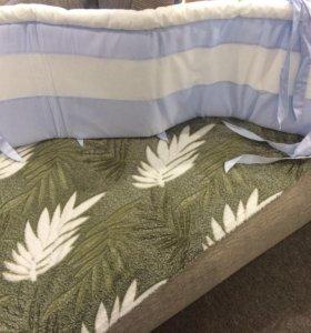 Бортик в кроватку на 3 стороны