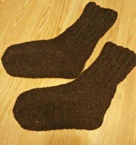Вязаные шерстяные носки 41- 42 размер