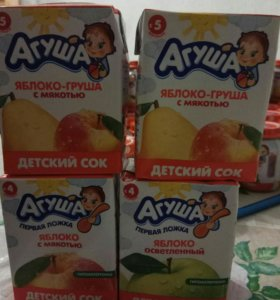 "Пюре и сок ""Агуша"""