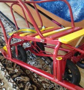 санки с большими колесам